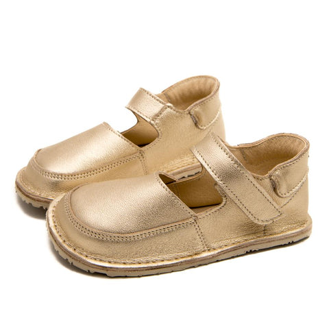 IBIS gold barefoot mary janes for girls shoes