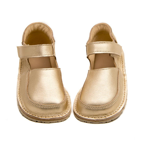 ZeaZoo Gold Mary Janes minimalist shoes for girls