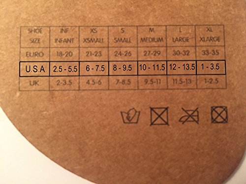 Slipfree size chart with US sizing