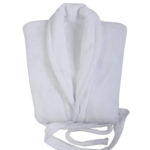 Club Classique 450gsm Towelling Bathrobe with Collar - white
