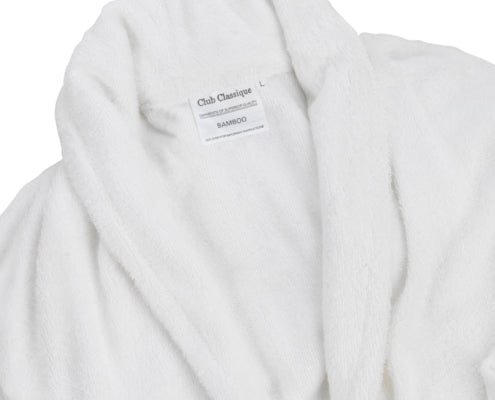 Club Classique Bamboo Bathrobes 400gsm - various sizes - White & Stone