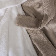 Load image into Gallery viewer, Club Classique Bamboo Bathrobes 400gsm - various sizes - White & Stone