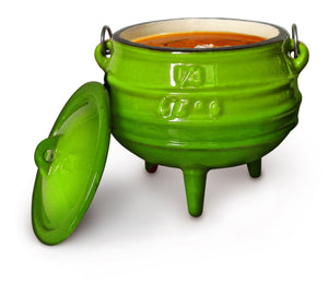 Pot Green Enamel (3-Leg) - various sizes
