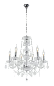 Arcylic Crystal Chandelier 6 Arm