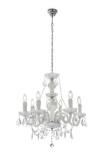 Load image into Gallery viewer, Acrylic Crystal Chandelier with Frosted Glass