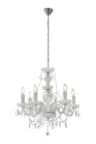 Acrylic Crystal Chandelier with Frosted Glass
