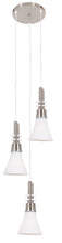 Load image into Gallery viewer, Pendant Satin Chrome with White Glass -3 Light