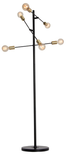 Metal Floor Standing Lamp On/Off Foot Switch -60 X 40W/11 W ES (Not Incl) Height 1600mm Base 300mm