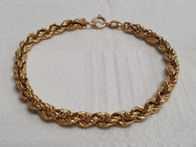 Load image into Gallery viewer, A Valentine's Treat… 10% off!  A 18ct gold hollow rope bracelet/ ankle chain (18cm long)