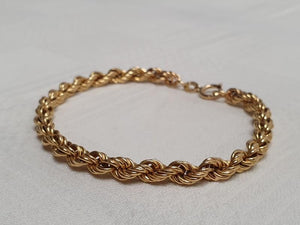 A Valentine's Treat… 10% off!  A 18ct gold hollow rope bracelet/ ankle chain (18cm long)