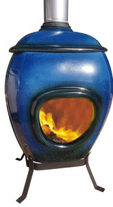 Earthfire Ceramic Firesplace Blue