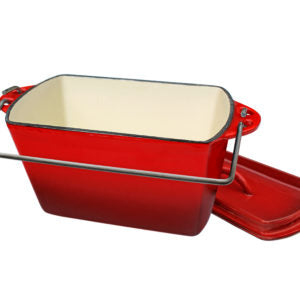 Pot Bread Red Enamel