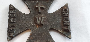 WW1 German propaganda iron cross 1914 Dinant Ghent Antwerp Rheims Louvain Amiens