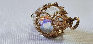 A Valentine's Treat… 10% off!  An ornate 18ct gold and crystal ball pendant