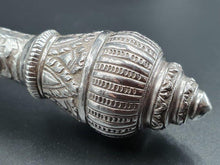 Load image into Gallery viewer, A large 25cm ornate hallmarked 900 solid silver spoon. 73.18grams.