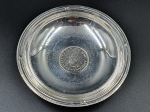 A South African Mint (S.A.M) sterling 1652-1952 5 shilling coin bowl