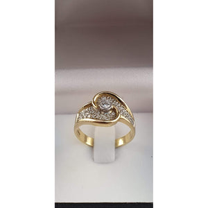 A Valentine's Treat… 10% off!  An 18ct gold ring with a centre diamond surrounded by 40 smaller diamonds