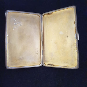 "An amazing antique (1936) ""Beddoes & Co"" hallmarked sterling silver cigarette/card holder (167.75g)"