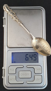 "An American sterling silver ""Denver Colorado"" souvenir teaspoon."