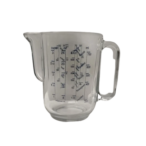An awesome Italian made Bormioli Rocco bakers measuring jug with dry and wet measurements