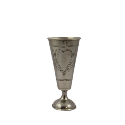 An ultra rare antique hallmarked Imperial Russian 875 silver Judaica Kiddush cup (pre 1908)