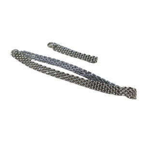 An impressive, elegant 9ct white gold watch style chain link necklace and bracelet