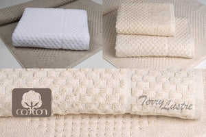 Terry Lustre Waffle Weave Bath Mat - Made in South Africa 1070gsm