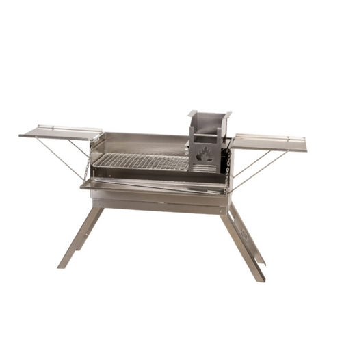 Home Fires Kampbraai Stainless Steel Body, Embermaker, Tables
