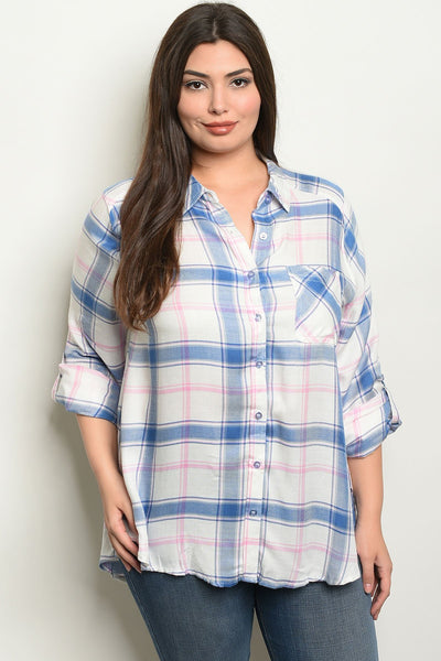 Womens Checkered Top