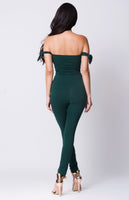 Off Shoulder Solid Jumpsuit