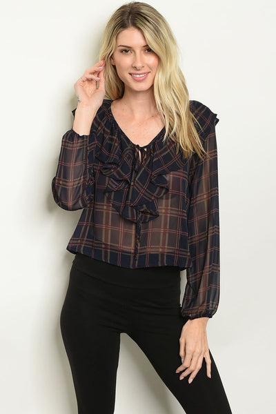 Shop the Trends Checkered Top