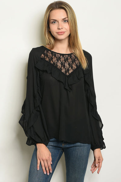 Womens Ruffled Top