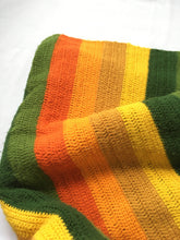 Load image into Gallery viewer, Vintage handmade 1970's Vibrant Soft Blanket