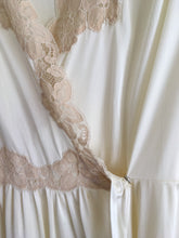 Load image into Gallery viewer, Vintage beautiful silky gown robe with lace detail