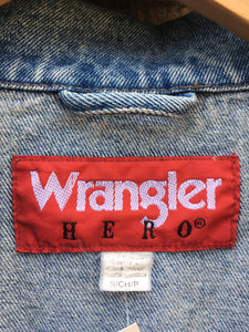 Vintage 90's stonewash Wrangler Hero Denim Jacket w/ Eagle Patch