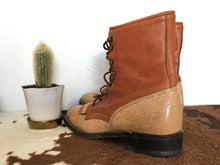 Load image into Gallery viewer, Vintage Laredo Tooled Leather Western Boots
