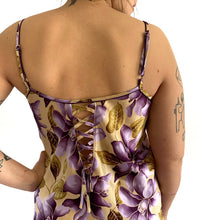 Load image into Gallery viewer, Vintage Silky Floral Dress