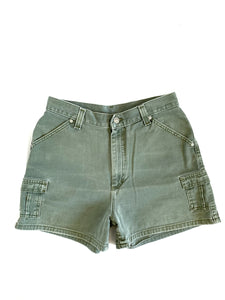 Lee Mossy Green Utility Shorts