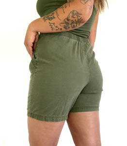 Vintage Green Lounge Shorts