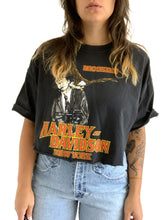 Load image into Gallery viewer, Vintage faded & Cropped Harley Tee