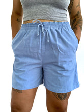Load image into Gallery viewer, Vintage baby blue comfy shorts