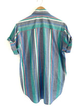 Load image into Gallery viewer, Vintage Color block stripe button up