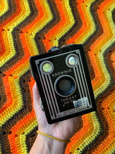 Vintage 1940s Art Deco Brownie Camera for Decor