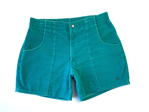 Vintage OP Turquoise Corduroy Shorts