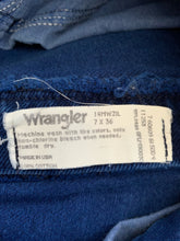 Load image into Gallery viewer, Vintage Royal Blue Stone Wash Wranglers