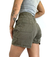 Load image into Gallery viewer, Vintage Olive Green Utility Shorts