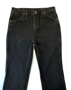 Faded Slim Hip Black Wranglers