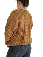 Load image into Gallery viewer, Golden Brown Sugar Chunky Knit Sweater