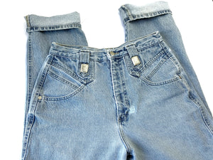 Vintage 1990s Lightwash Roper Jeans with Silver Detail