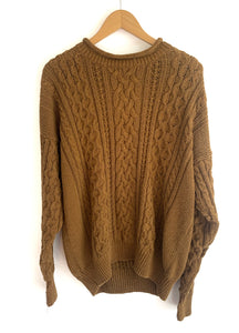 Golden Brown Sugar Chunky Knit Sweater